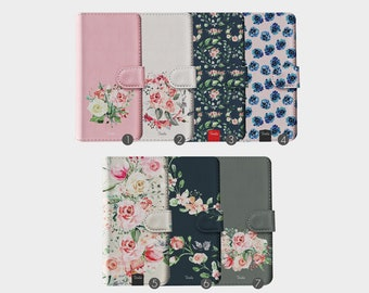 86c375cadfbf Tirita Wallet Leather Flip Phone Case Fresh Flowers Floral Peony Blossom  English Roses for iPhone 5 5s SE 6 6s 7 8 Plus X Xr Xs Max
