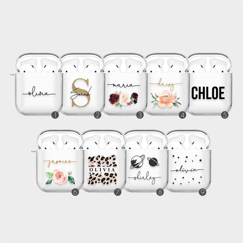 Tirita Personalised AirPods Case Cover for AirPods 1 AirPods 2 image 1