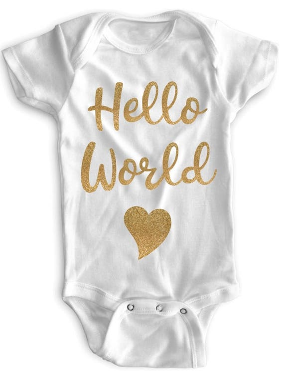 Baby Girl Clothes Onesie Newborn Gold