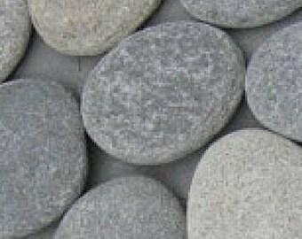 Craft Rocks, 10 Flat Beach Stones, Craft Stones, Art Rocks, Stones to Paint, Alphabet Rocks - LARGE FLAT STONES 4 inch