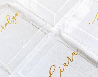 Personalised acrylic box, perspex box, personalised gift box, bridesmaid box, wedding gift box, Christening box, keepsake box