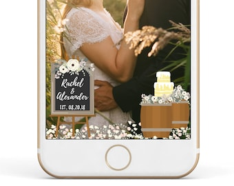 Wedding Snapchat Filter, Wedding Snapchat Geofilter, Custom Geofilter, Wedding Geofilter, Custom Snapchat Geofilter, Snapchat Wedding