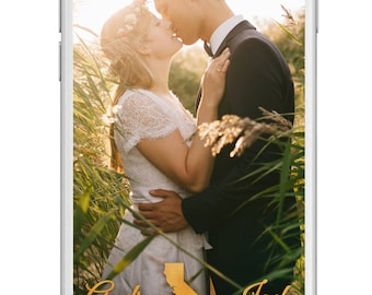 Snapchat Wedding Geofilter, Wedding Snapchat Geofilter,  Gold Snapchat Filter, Custom Snapchat Filter
