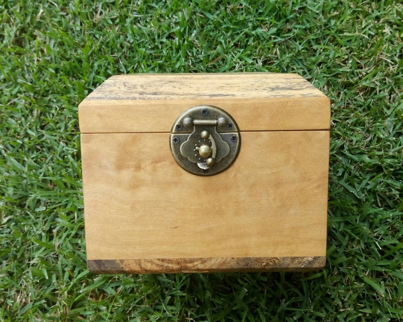 Unique Wooden Box Handmade Gift Leopard Wood and Maple