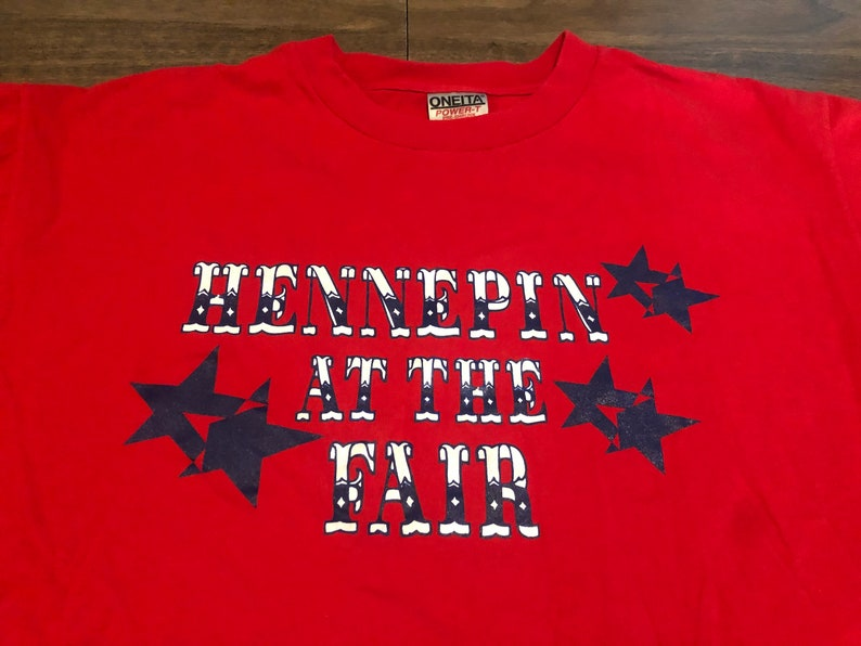 vintage Hennepin at the Minnesota State Fair Large Red T Shirt