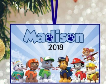Paw Patrol Christmas Ornaments Personalized.Paw Patrol Christmas Ornaments Etsy