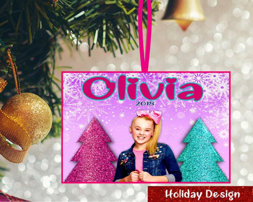 Personalized Kids Christmas Ornament Custom JoJo Siwa   Etsy