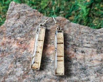 Mini Stix Birch Bark Earrings