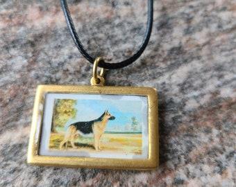 Loyal Friend Rectangle Pendant Necklace