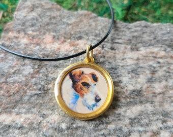 Vintage Wire Fox Terrier Pendant