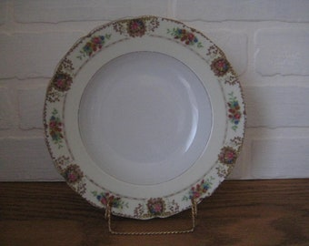 Additional  Replacement Plate s Hohenberg Bavaria  BLACK KNIGHT Trianon pattern w Gold verge Encrusted Edge or Bowl Hutschenreuther