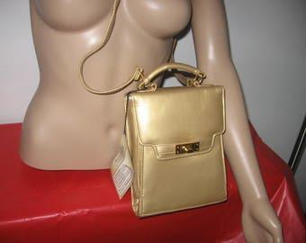 Vintage Gold Wonderbag Purse By Michael Stevens  - Leather Handbag/Purse - Gold Color Shoulder Bag New Old Stock