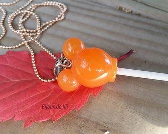 Lollipop necklace resin