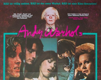 "Movie poster ""Andy Warhol's Bad""-Original"