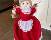 topsy turvy doll flip flop doll Little Red Riding hood, Granny and Wolf 3 IN 1