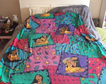 Vintage Disney Pocahontas Twin Size Fitted Sheet