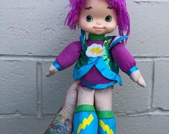 "Hallmark Rainbow Brite Friend Stormy 16/"" Doll Plush Toy Purple Yarn Hair Retired"