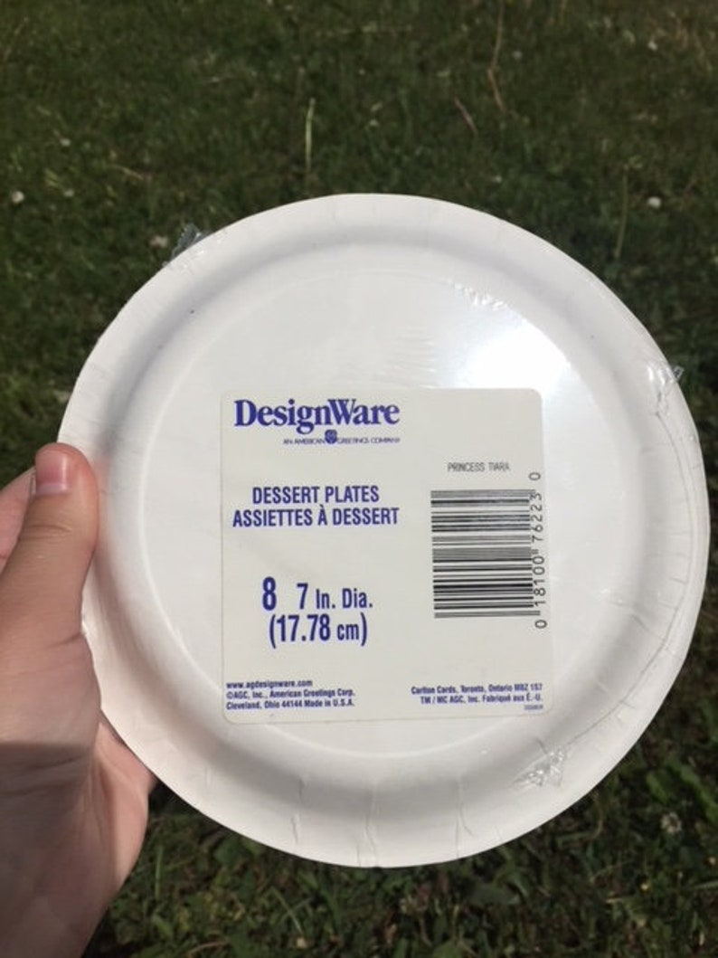 Vintage Princess Paper Plates Birthday Party In package