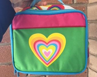 Vintage Rainbow Heart Lunch bag