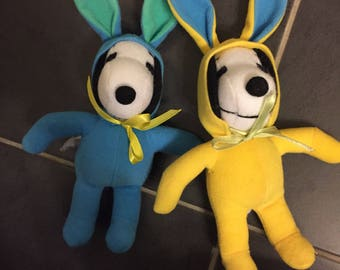 Peanuts snoopy plush rabbits