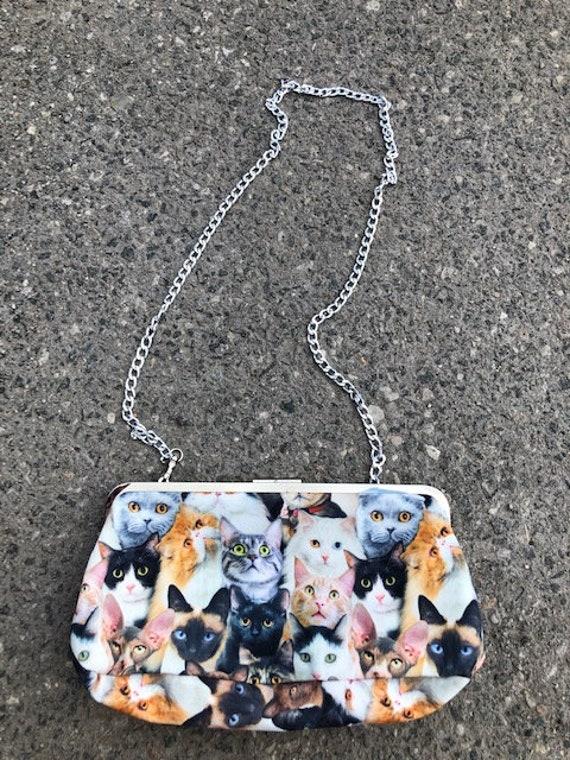 Cat Lady Cat Collage Purse