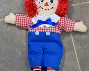 Vintage Raggedy Andy plush Doll