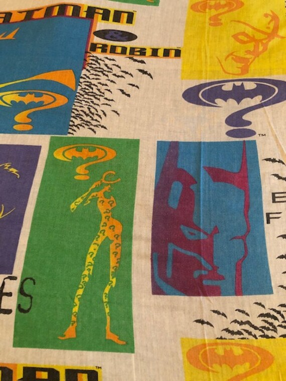 Vintage 1995 DC Comics Batman Forever Twin Size Flat Sheet Rare