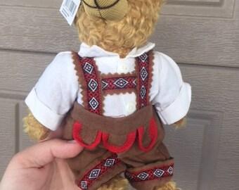 Vintage German Teddy bear in lederhosen Plush