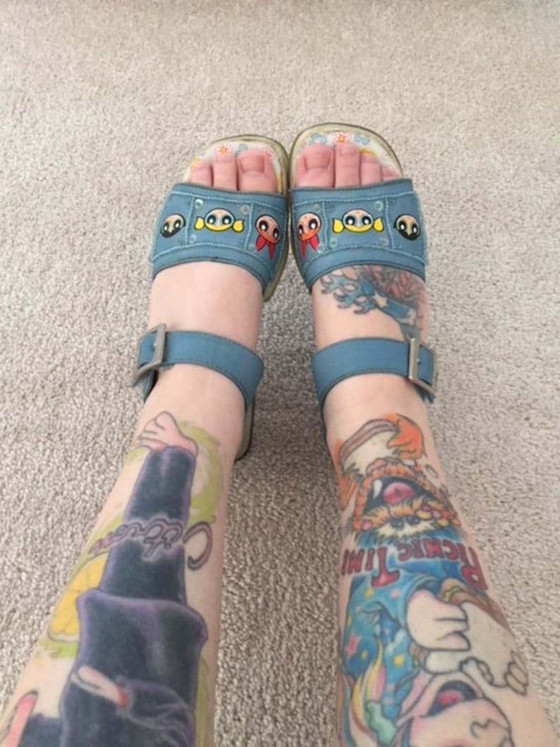 Vintage Power Puff Girls Sandals Girls size 2