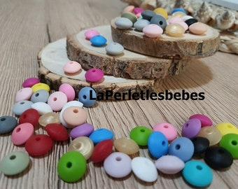 anise and mint color matching Silicone pearl 12 mm grey dark pale pink
