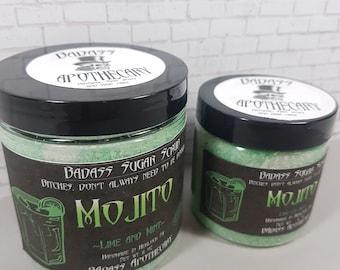 Mojito -Lime Mint Sugar Scrub - Body Scrub- Foot Scrub- Organic Sugar Scrub - Natural Scrub - Vegan - Exfoliating - Badass Scrub