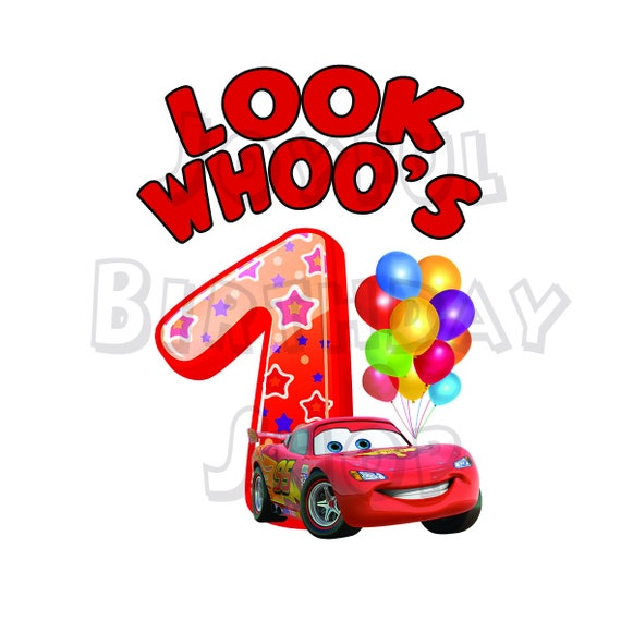 Happy First Birthday Card With Cars For Print Look Etsy