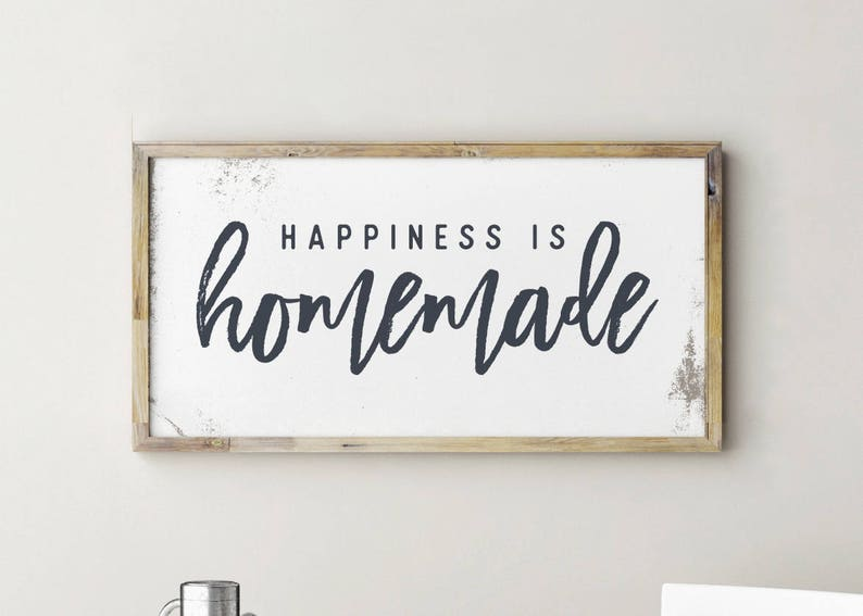 graphic regarding Happiness is Homemade referred to as Printable Indication, Contentment is Do-it-yourself, Joy is Handmade Signal, Contentment is Handmade, Kitchen area Signs or symptoms, Kitchen area Decor, Kitchen area Wall Decor