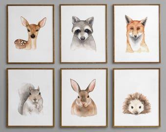Printable Woodland Nursery Decor, Forest Animals Nursery Decor, Woodland Nursery Wall Art, Woodland Nursery, Woodland Animals, Forest Prints