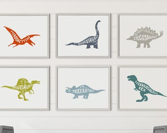 Printable Boy Room Decorations, Boy Room Decor, Dinosaur Decor, Dinosaur Wall Art, Boy Nursery Decor, Dinosaur Wall Decor, Boy Nursery Art