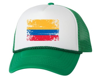 8fe3e650cd6 Colombia Flag Trucker Hat Colombia Hats for Men and Women Colombian Football  Cap Colombia Soccer Gifts Colombia Snapback Hat Colombia Gifts