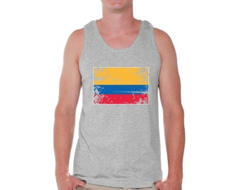 294176e35a4 Colombia Flag Tank Top for Men Colombian Muscle Shirts Colombia Tshirt for  Men Colombia Soccer Tank Top Football 2018 Gifts Colombian Men