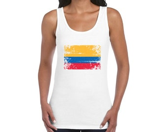 a001c120cd9 Colombia Flag Tank Top for Women Colombian Sleeveless Shirts Colombia Shirt  for Women Colombia Soccer 2018 Tank Top Gifts Colombian Women