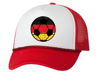 65e3e8aefb1 Germany Soccer Ball Trucker Hat German Hats Germany Soccer Snapback Hat  Germany 2018 Baseball Cap Gifts for Men and Women German Football