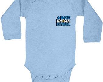 b01ef472d2f Argentina Futbol Long Sleeve Baby Bodysuit Argentina Football One Piece  Argentinian Gifts Argentina Baby Bodysuit Argentina Football 2018