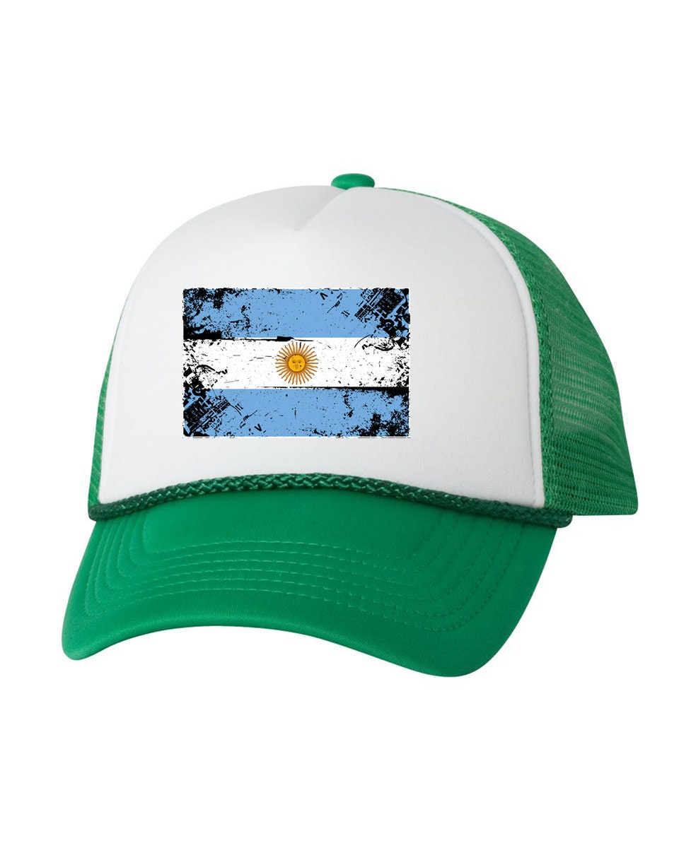 Argentina Flag Trucker Hat Argentina Hats for Men and Women  882c435f91e