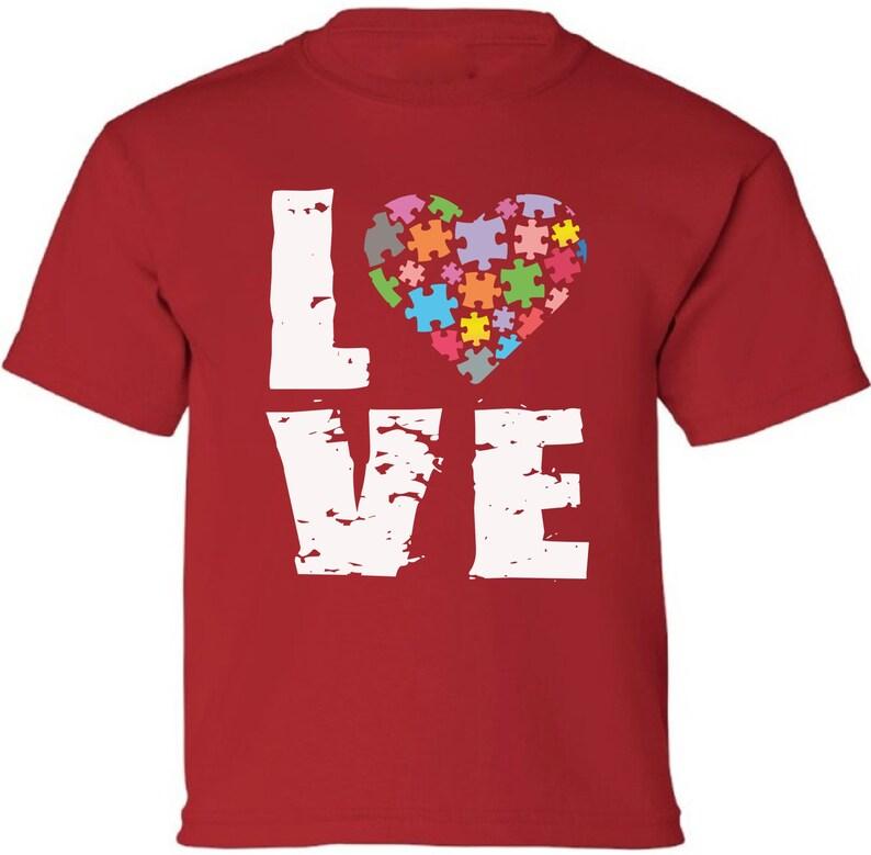 51f1d13d Love Kids Autism Puzzle Shirt. Autism Shirts for Boys. Autism | Etsy