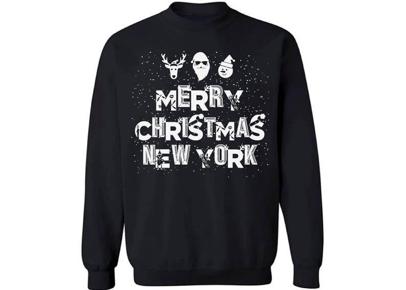 06e30628 Merry Christmas New York Sweater New York Christmas Sweater | Etsy