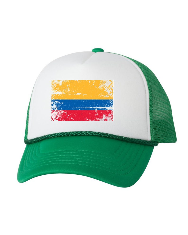 a88d413d1cf Colombia Flag Trucker Hat Colombia Hats for Men and Women