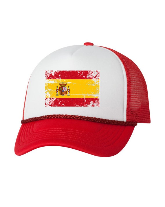 good service quality products many styles Spain Flag Trucker Hat Spain Hat for Men and Women Spanish Football Cap  Spain Soccer Gifts Spain Snapback Hat Gifts from Spain Spanish Gifts
