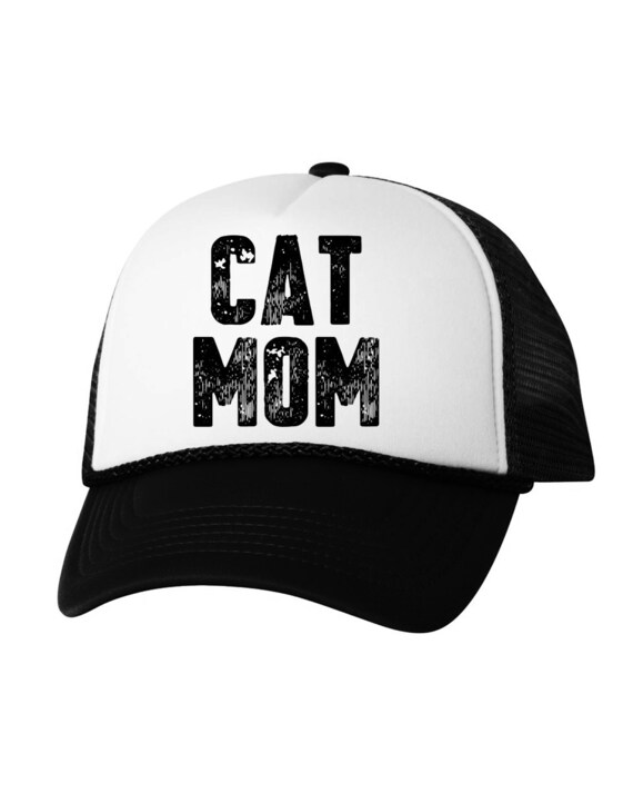 90dea3b7a68 Cat Mom Trucker Hat Cat Mom Hat Cat Mom Baseball Hat Cat Mom