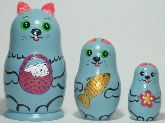 Matryoshka 5 pieces 4.25/'/'//11 cm Masha and the Bear Nesting Doll