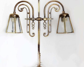 Vintage Brass Student Table Lamp