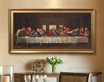 Last Supper Canvas Etsy