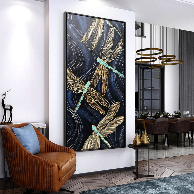 wall art decor for living room.htm dragonfly wall art modern art abstract black paintings on etsy  dragonfly wall art modern art abstract